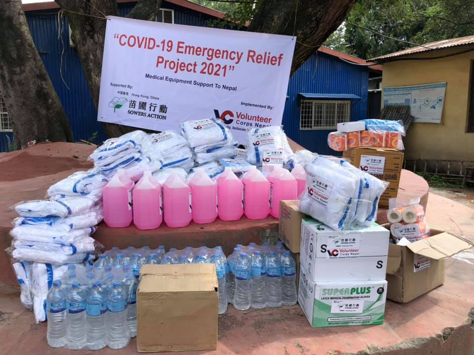 Sowers Action donates lifesaving equipment and medical supplies to Siddhi Memorial Hospital and Bhaktapur Hospital