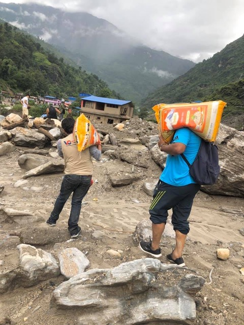 Volunteers to the rescue in Nepal's flood season