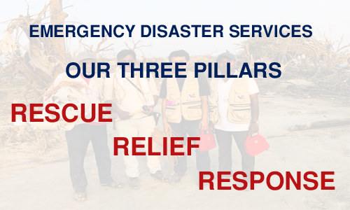 THREE PILLARS OF EMERGENCY DISASTER SERVICES